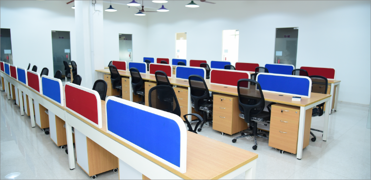 Big shared office of Trigger Xchange in Navi Mumbai